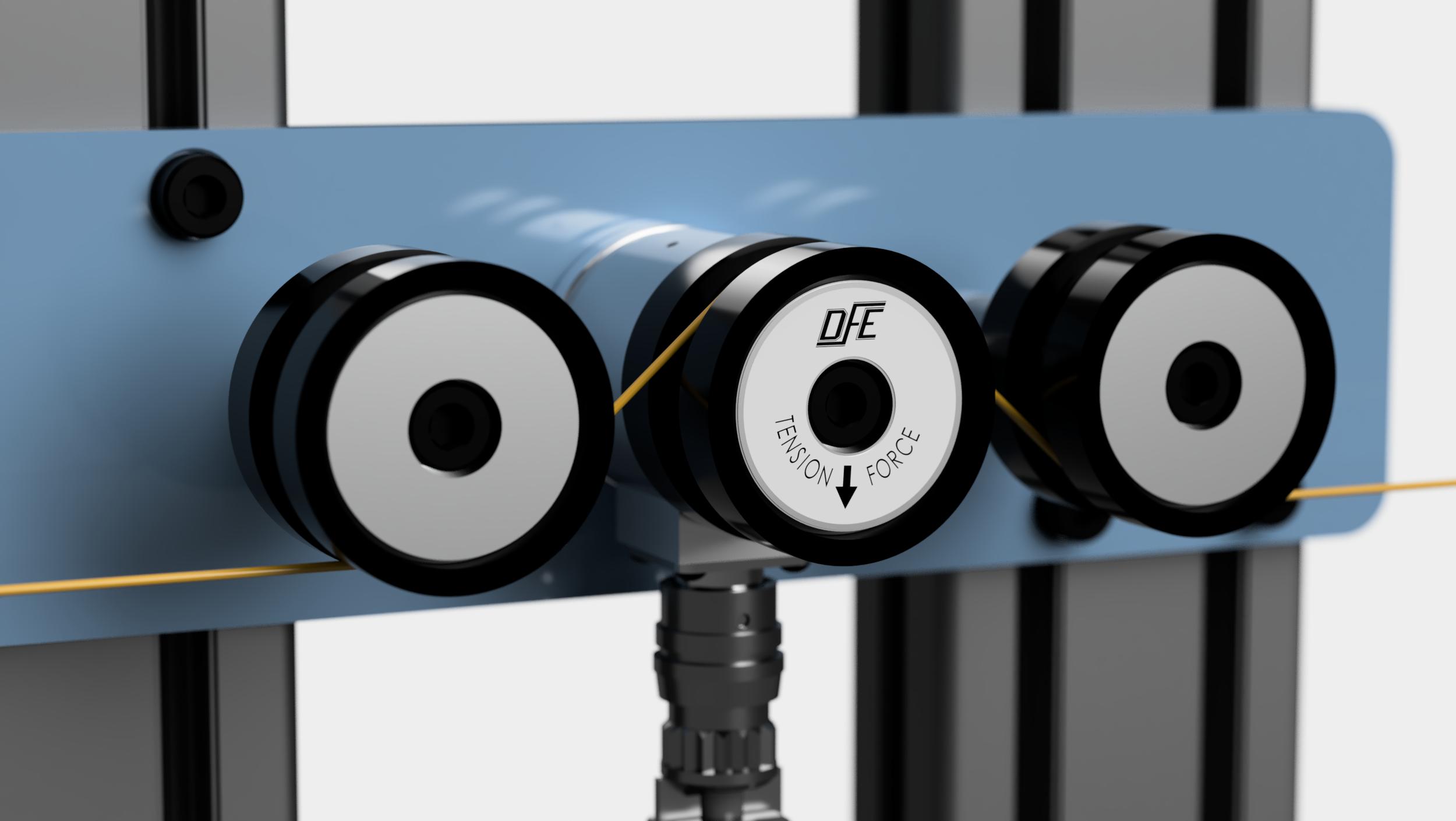 Ribbon filament tension transducer installation